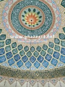 Pengerjaan kaligrafi masjid dakwatul khoirot