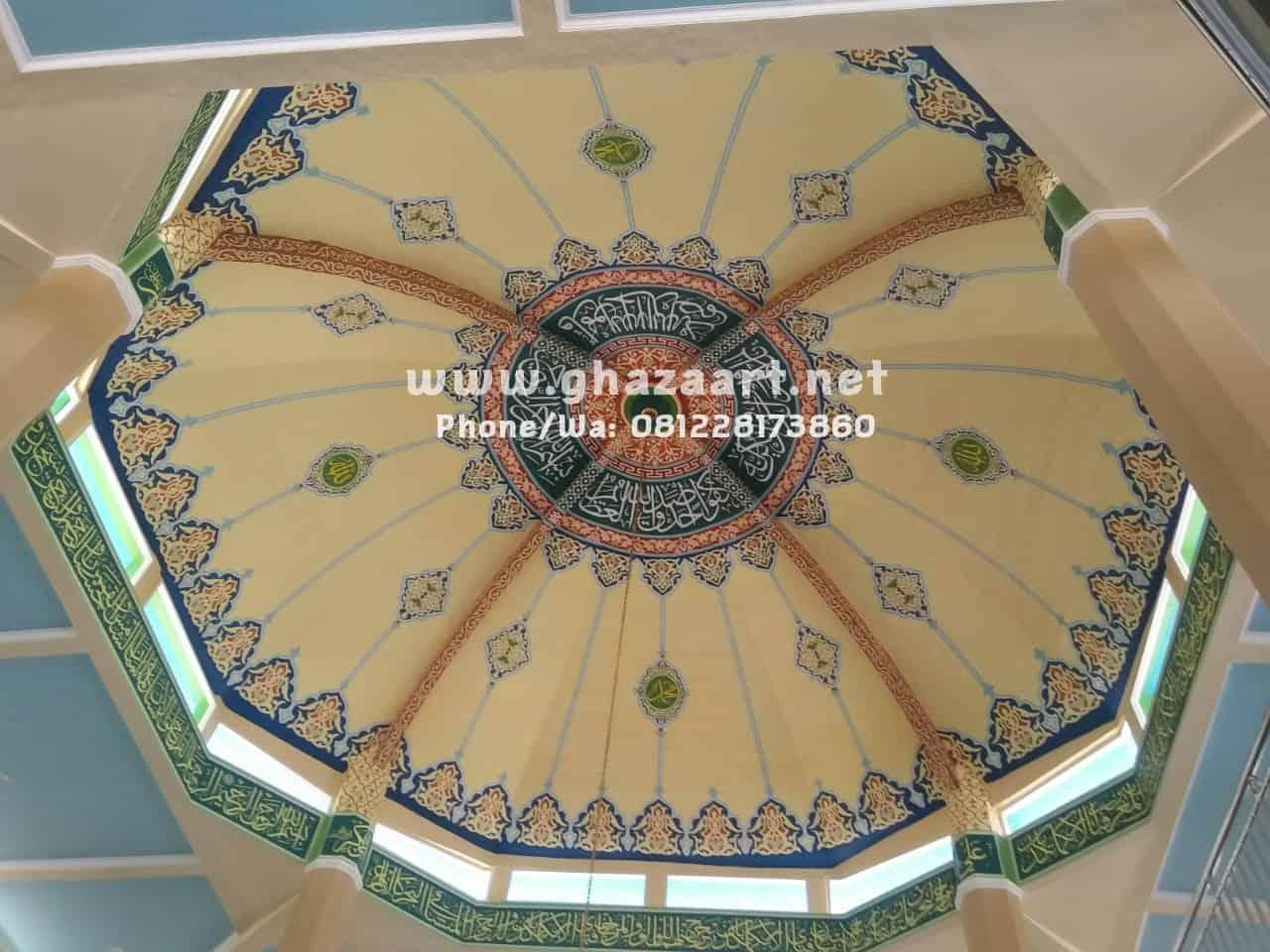 Kaligrafi kubah masjid di cirebon