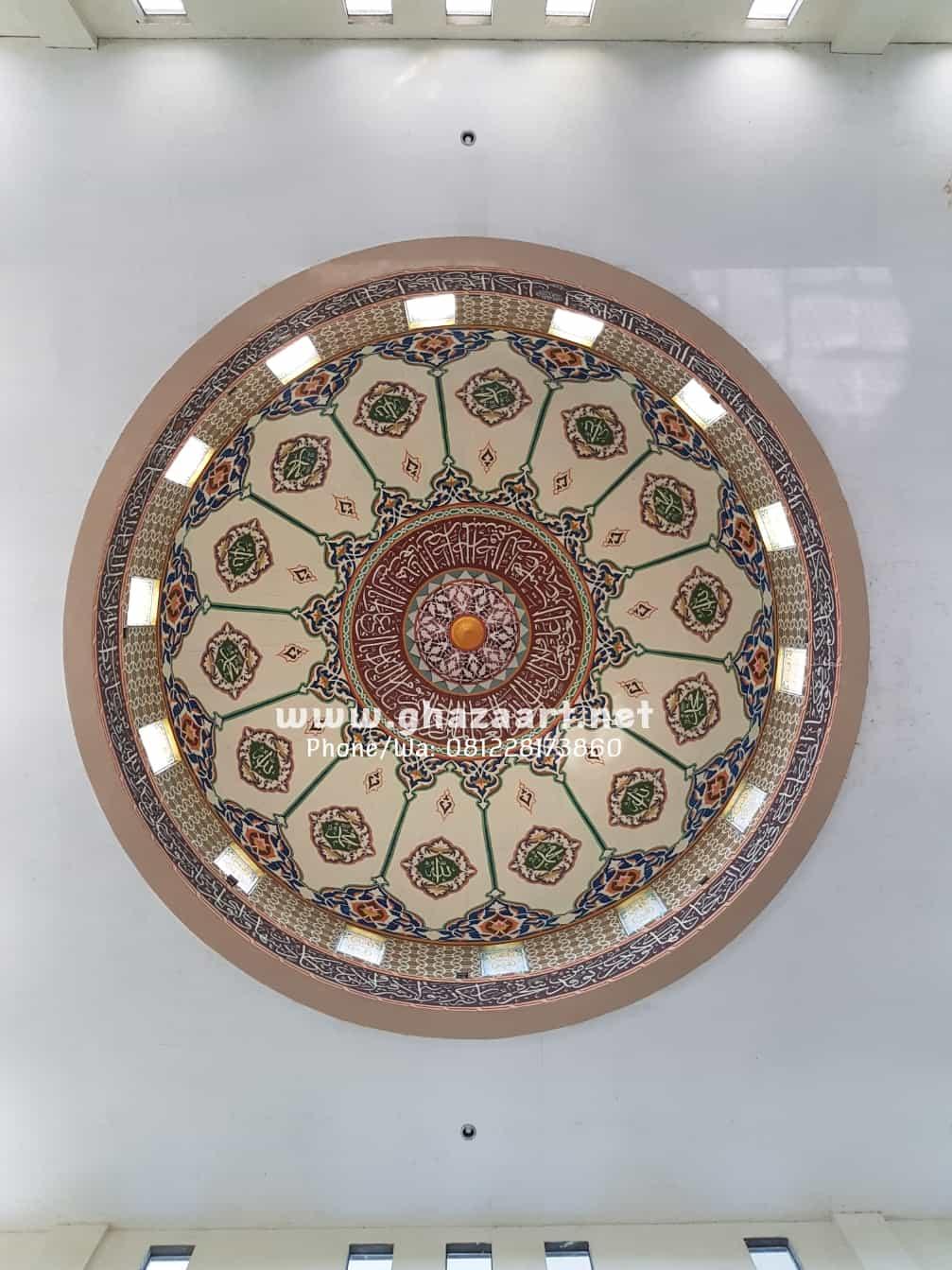 Lukisan kaligrafi kubah masjid