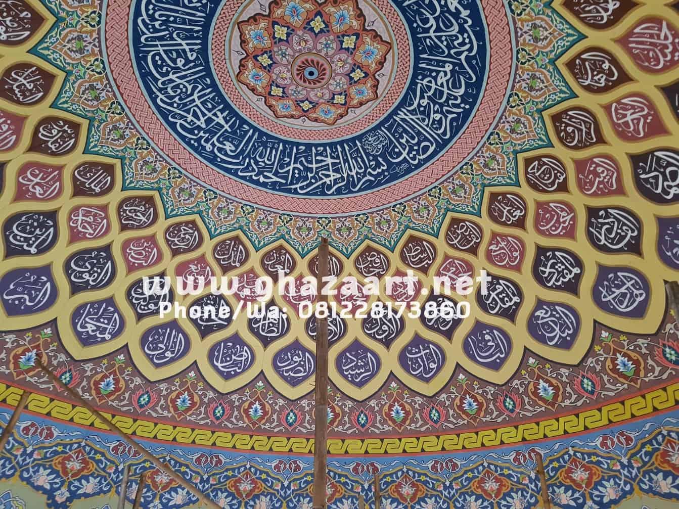 Dekorasi kubah masjid baitur rohman