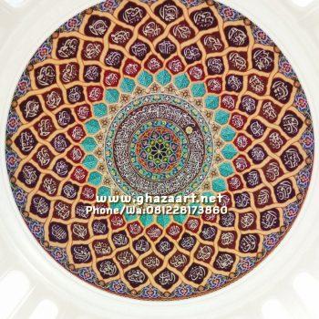 motif ornamen asmaul husna masjid wonosobo jawa tengah