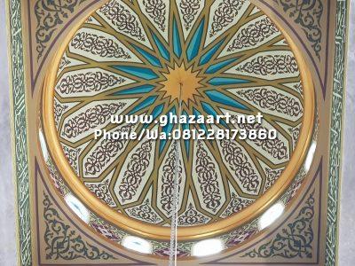 """Hasil akhir ornamen kubah masjid grajen nganjuk jawa timur oleh tim kami """"ghaza art professional calligraphy"""""""